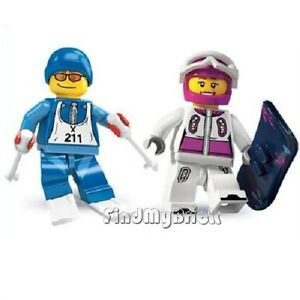 M263M248-Lego-Snowboarder-Skier-Minifigures-8684-8803-NEW