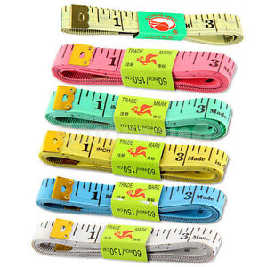 1.5M body measuring soft flat tape RULER 60INCH mini small colourful tailor diet