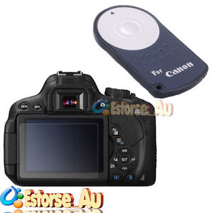 RC-6 Remote Control + 3 x LCD Screen Protector For Canon EOS 650D T4i Camera