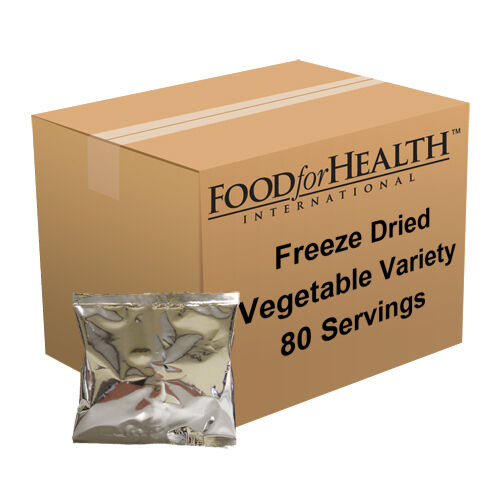 Survival Freeze Dried/Dehydrated Vegetable Variety 80 Servings Great way to try!