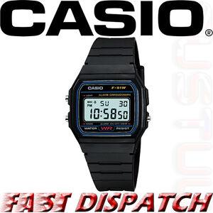 Genuine-Casio-F91W-Classic-Digital-RETRO-Sports-Alarm-Stopwatch-Black-Watch-NEW