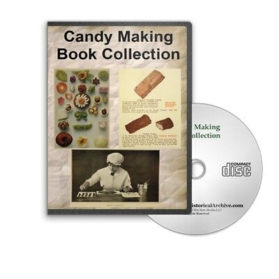 Candy Making Techniques   1000S Recipes Confectionery Sweets 28 Books Cd   B393