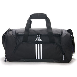 BN Adidas 3S ESS TBS Gym Duffle Travel Bag Black White (X33402)
