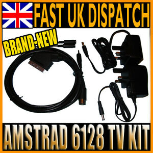 AMSTRAD CPC 6128 TV CONNECTION KIT - PSU ADAPTERS & SCART CABLE