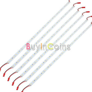 6 X Car 5630 36 SMD LED Hard Lights Strip Lamp Bulb 50CM DC 12V Cool White #1