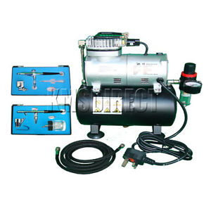 AS 186 Complete Airbrush Kit + Compressor With Tank