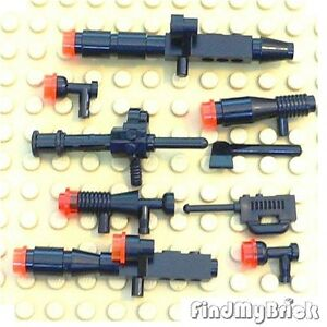 K105A-Lego-Weapons-9x-Star-Wars-Black-Blasters-Set-NEW