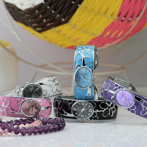 Womens-Wrist-Watch-Stainless-Steel-Flower-Bracelet-Quartz-Watches-Gift-New