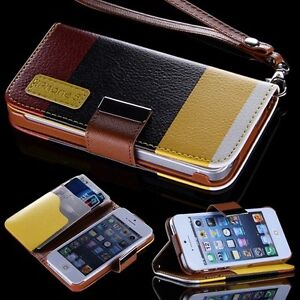 For-iPhone-5-5G-6th-Case-Flip-Leather-Wallet-Stand-Cover-Card-Pouch