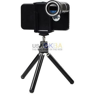 10X Optical Zoom Telescope Camera Lens Tripod Stand For iPhone 4 4S Cell Phone