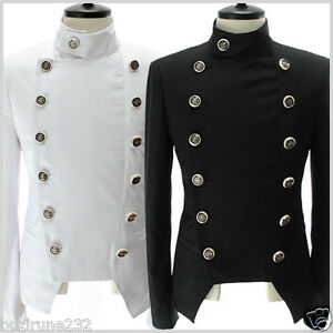 NJK4-THELEES-Mens-Casual-Double-Breasted-button-Slim-Jacket-Blazer-M-L-XL-2XL