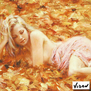 'Quiet Repose' Limited Edition Giclee on Art Paper By Vidan