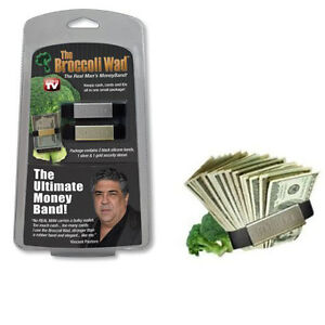 89590 Broccoli Wad 2 Black Silicone Money Bands Silver/Gold Security Clip/Sleeve