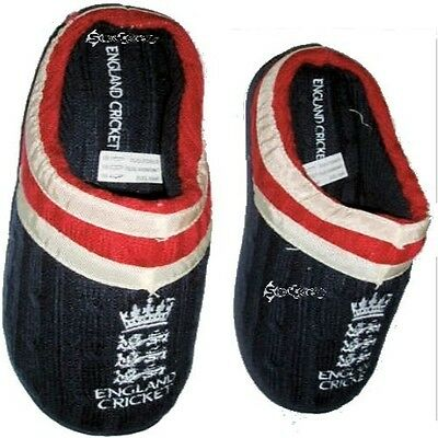 Mens Official ECB England Cricket Slippers Shoe Sizes 6-12 Dad Father Gift