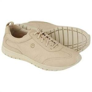 Rockport-Faisel-Leather-Oxford-Lace-Sand-Beige-Walking-Womens-Shoes-APW33733