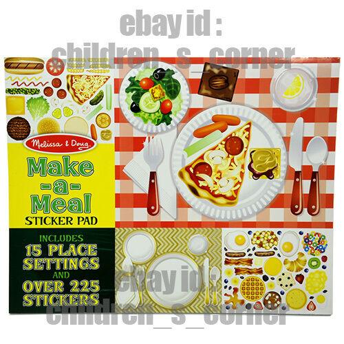 Just Arrive Melissa & Doug Make-a-meal Sticker Pad - 225 Sticker 4193
