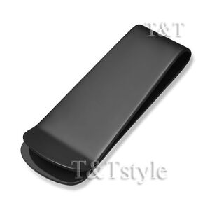 T&T 316L Black Stainless Steel Money Clip (MC31)