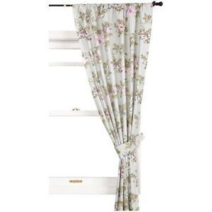 Laura Ashley Avery Beautiful Rod Pocket Drapes Curtains 82x84 034 Sage Pink Nip Ebay