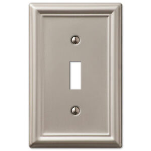 chelsea brushed satin nickel switchplate wall plate covers light switch outlet. Black Bedroom Furniture Sets. Home Design Ideas