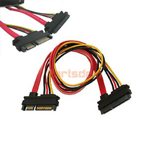 15+7 Pin Male to Female SATA HDD Power Extension Cable