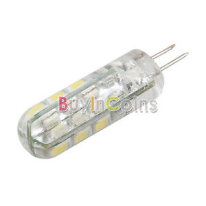 2 X G4 3.6W SMD 3020 24 LED Cabinet Marine Boat Light Bulb AC DC 12V Pure White