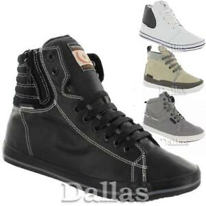 MENS-HIGH-HI-TOPS-TRAINERS-BOYS-CASUAL-LACE-UP-ANKLE-CANVAS-RETRO-SHOES-SIZE
