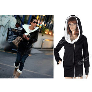 Womens Long Sleeve Casual Zip Up Tops Hoodie Coat Jacket Outerwear Cotton WT001