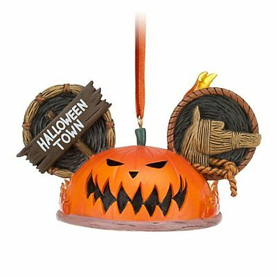 Disney Nightmare Before Christmas Pumpkin King HALLOWEEN TOWN EAR HAT ORNAMENT (Halloween Pumpkin Nightmare Before Christmas)
