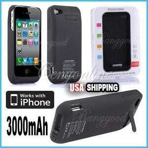 3000mAh-External-Power-Pack-Stand-Charger-Backup-Battery-For-iPhone-4G-4S-Black