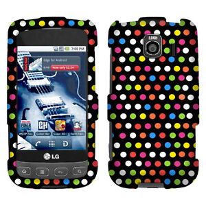 For Sprint LG LS670 Optimus S V U Rainbow Dot Texture Accessory Case Cover