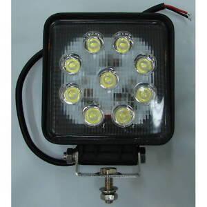 12 or 24 volt 27 watt square led flood light for boats 1 620 lumens ebay. Black Bedroom Furniture Sets. Home Design Ideas