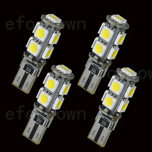 4x Canbus Error Free T10 194 W5W Turn Tail led 9-5050 smd BMW Benz W204 White