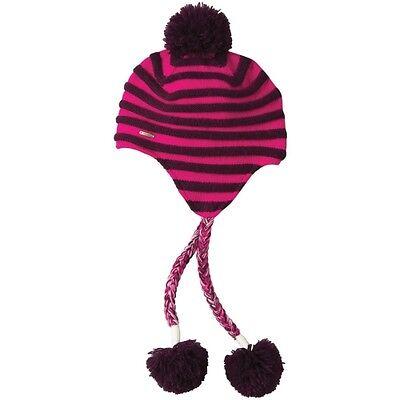 Womens Koppen Brink Striped Peruvian Winter Snow Ski Snowboard Hat Beanie Pink
