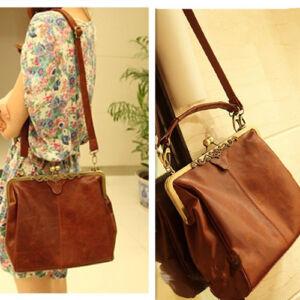 Retro-Vintage-Lady-PU-Leather-Shoulder-Satchel-Tote-Bag-Purse-Handbag-Adjustable
