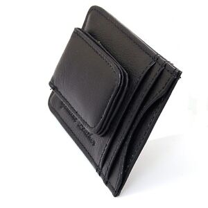 Mens-Leather-Money-Clip-Slim-Front-Pocket-Wallet-Magnetic-ID-Credit-Card-Holder