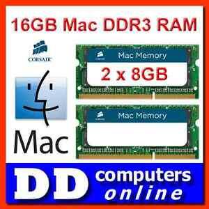 Corsair 16GB (2x8GB) Mac 1333MHz DDR3 RAM Apple iMac MacBook/ Pro SO-DIMM Memory