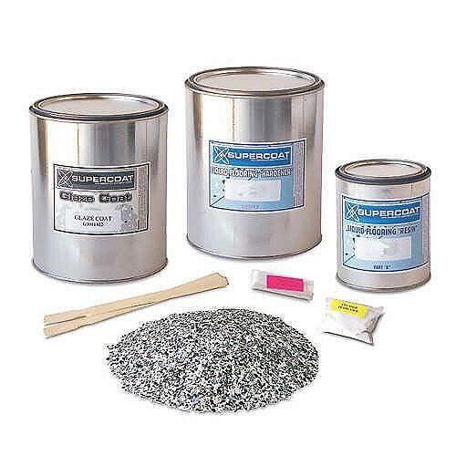 Supercoat Epoxy Basement Garage Concrete Wood Metal Floor Liquid Coating Paint