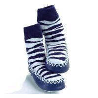 New Moccasin Style Slipper Socks, Kids Shoes