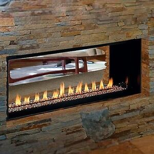 linear vent free gas fireplace paris lights two sided or single side
