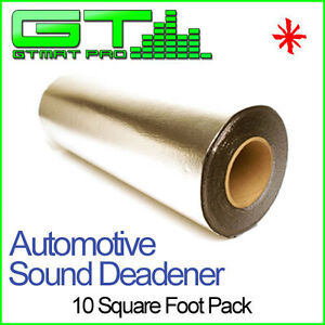 NEW-10sqft-GTMAT-50mil-Sound-Deadener-Noise-Deadening-Dampening-Insulation-Mat