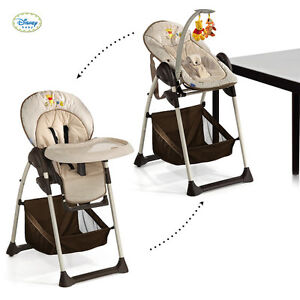 NEW Hauck Disney Winnie the Pooh doodle highchair high chair+bungee brown/beige