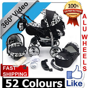★★★ Baby Pram + FREE Car seat - Pushchair -16 COLOURS