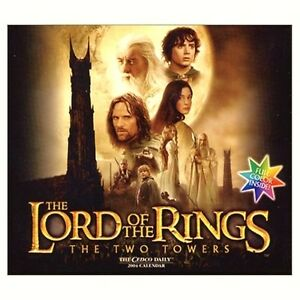 VERY-RARE-Brand-New-Lord-of-the-Rings-The-Two-Towers-2004-Calendar