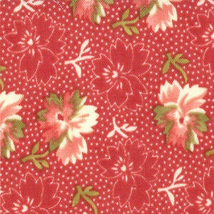 Moda-Butterscotch-Roses-20172-13-Ruby-Floral-Tossed-Buds-Red-Half-Yards