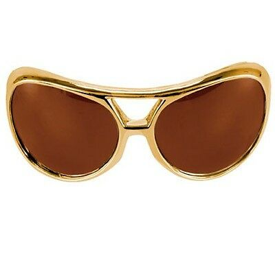 Rock & Roller Glasses-brown And Gold-costume Accessory