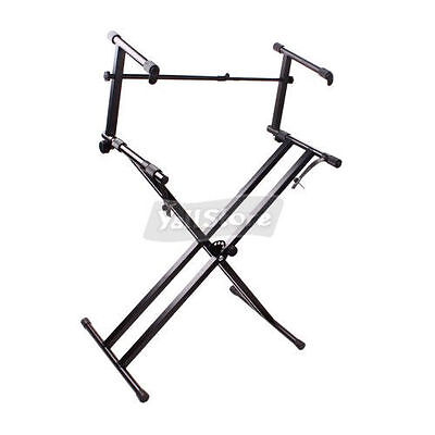 BRAND NEW X- Type Adjustable Double Dual Keyboard Piano Stand on Rummage