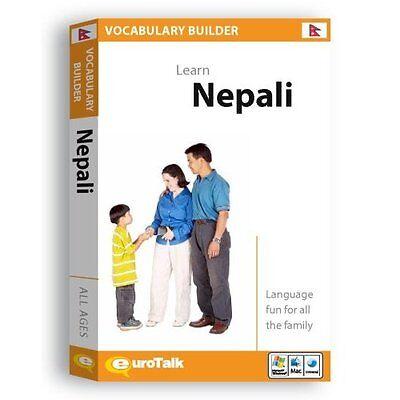 Nepali Vocabulary Builder Language Tutor Software Cd - Learning & Speaking
