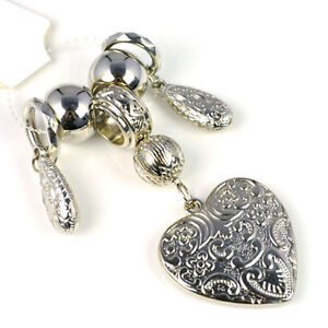 Top Fashion Jewellery Scarf CCB Heart Pendant Sets with Charm Beads, PT-652