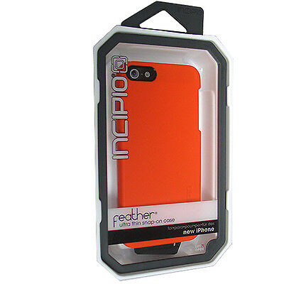 Incipio IPH-812 FEATHER Orange Ultra Thin Snap-on Case for Apple iPhone 5