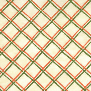 Saltbox-Harvest-Plaid-Ivory-Fabric-Green-Orange-Red-Quilting-Quilt-Fabrics